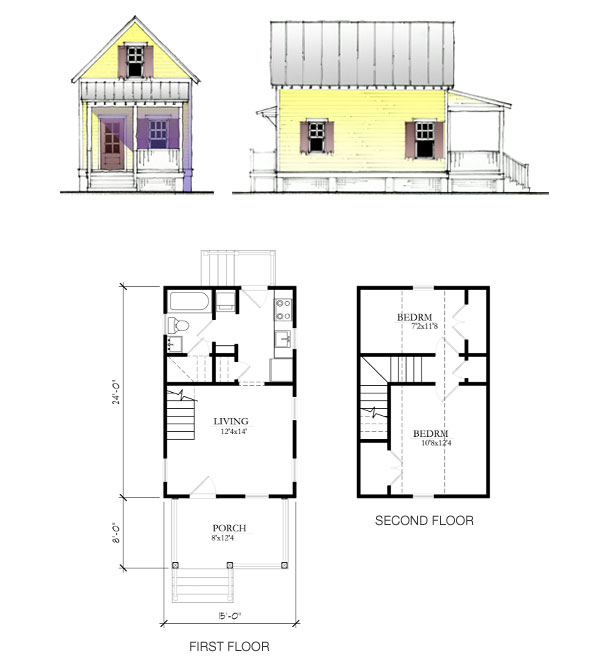 The katrina cottage model 675 - Small house planseuros ...