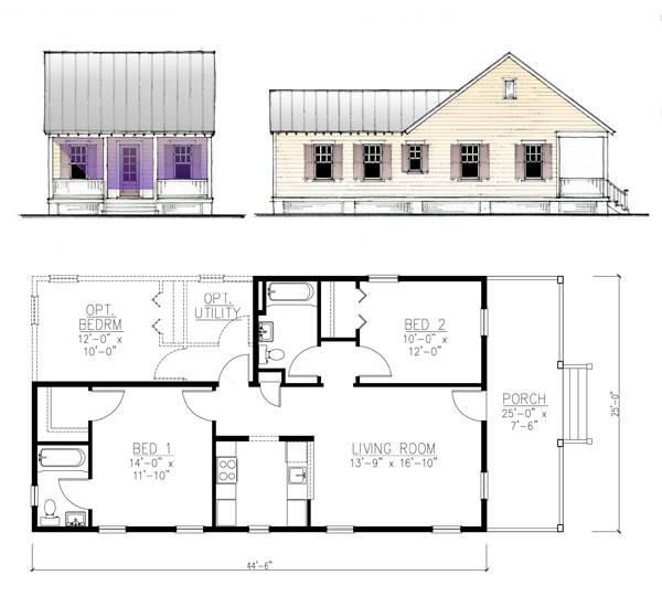 The Katrina Cottage Model 888