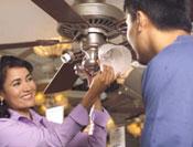 Como se intala el ventilador de techo