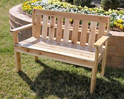 building outdoor bench