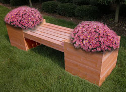bench planter box plans