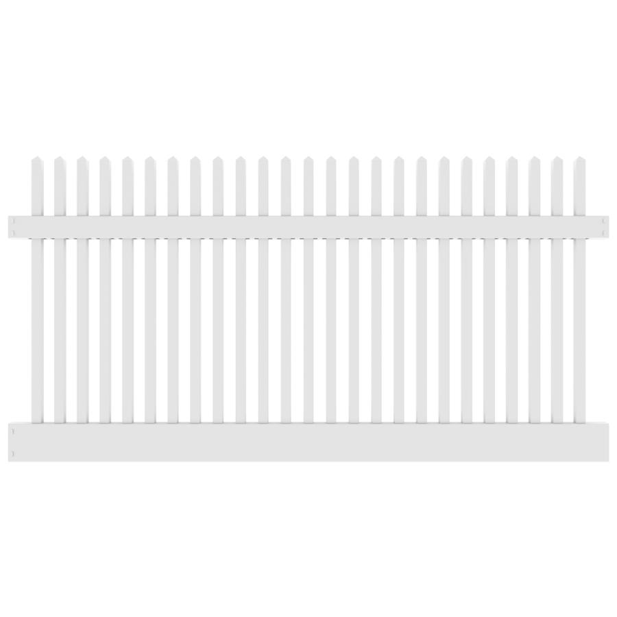 White vinyl picket fence panels topfencedesign