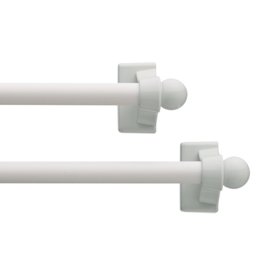 "Style Selections 2-Pack White 7"" to 14"" Magnetic Curtain Rod 22-1401-1"