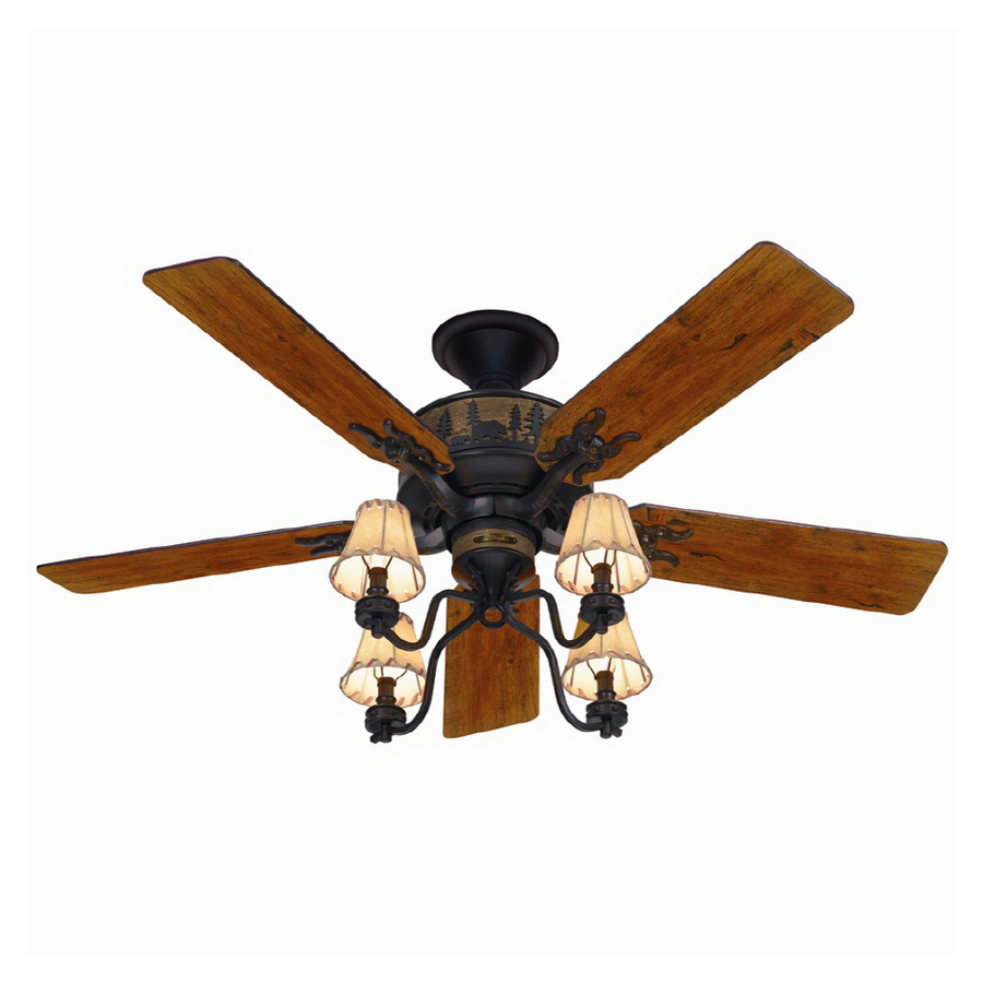 "Ceiling Fan Replacement Blades Lowes: HUNTER 52"" BRITTANY BRONZE WOODS Ceiling Fan HR 20715"