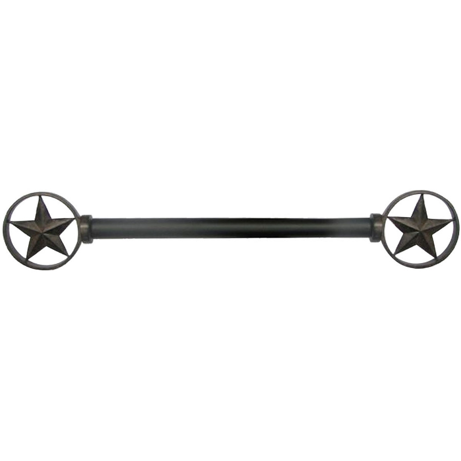 "Style Selections 28"" to 48"" Bronze Metal Single Curtain Rod R-1129"