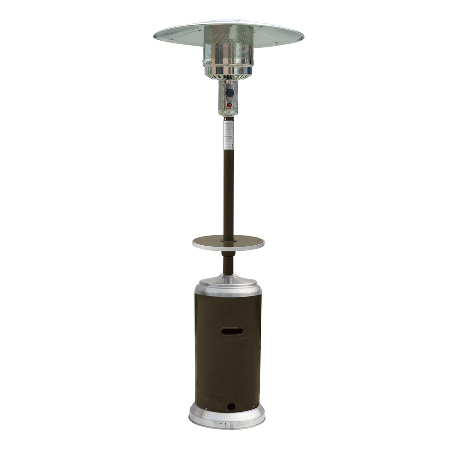 Garden Treasures HLDS01-MCT 41000 BTU Mocha Steel Liquid Propane Patio Heater with Wheels