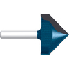 Bosch 2-Flute 1-in V-Groove Router Bits