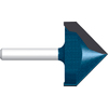 Bosch 2-Flute 3/4-in V-Groove Router Bits