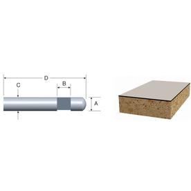 Bosch Solid Carbide Flush Trimmer Bit, Self-Piloted 1/4-in x 1/4-in Laminate Trim Bit