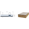 Bosch Solid Carbide Flush Trimmer Bit, Self-Piloted 1/4-in x 1/4-in Laminate Trim Bit