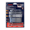 Bosch 10-Piece T-Shank Jigsaw Blade Set