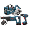 Bosch 3-Tool 18-Volt Lithium Ion Cordless Combo Kit