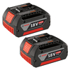 Bosch 2-Pack 18-Volt 3.0-Amp Hours Lithium Power Tool Batteries