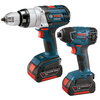 Bosch 18-Volt Lithium Ion Hammer Drill/Driver and Impact Driver Kit