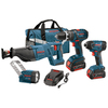 Bosch 4-Tool 18-Volt Max Lithium Ion Cordless Combo Kit