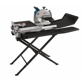 Bosch 10-in 1.4-HP Wet Bridge Sliding Table Tile Saw with Stand