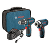Bosch 2-Tool 12-Volt Max Lithium Ion Cordless Combo Kit with Soft Case