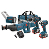 Bosch 4-Tool 18-Volt Lithium Ion (Li-ion) Cordless Combo Kit with Soft Case