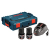 Bosch Click & Go 12-Volt Max Starter Kit (2 Batteries, Exact-Fit Insert Tray, Charger & L-Boxx)