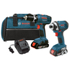 Bosch 2-Tool 18-Volt Lithium Ion Cordless Combo Kit with Soft Case