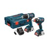 Bosch 18-Volt Lithium Ion (Li-ion) Brushless Motor Cordless Combo Kit with Hard Case