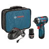 Bosch 12-Volt 1/4-in Cordless Brushless Drill with Battery and Soft Case