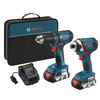 Bosch 18-Volt Lithium Ion Cordless Combo Kit with Soft Case