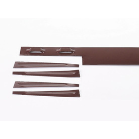 COL-MET 8-ft Brown Powder Coat Landscape Edging Section