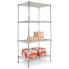 Alera 72-in H x 36-in W x 24-in D 4-Tier Steel Freestanding Shelving Unit