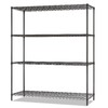 Alera 6-ft x 18-in Black Anthracite Wire Shelf