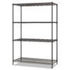 Alera 6-ft x 24-in Black Anthracite Wire Shelf