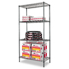 Alera 72-in H x 36-in W x 18-in D 4-Tier Steel Freestanding Shelving Unit