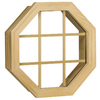Century Specialty Windows 20-3/8-in x 20-3/8-in Windows of Distinction Unfinished Wood Double Pane Octagon Window