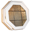 Century Specialty Windows 24-in x 24-in Glacier Block Series Unfinished Wood Triple Pane Tempered Octagon New Construction Window