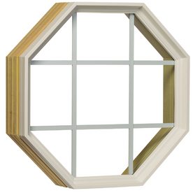 Century Specialty Windows 24-in x 24-in Windows of Distinction Unfinished Wood Double Pane Octagon Window