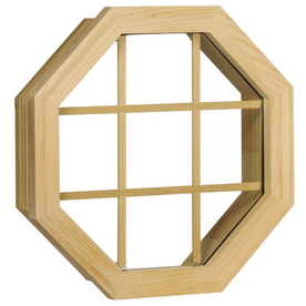 Century Specialty Windows 20.375-in x 20.375-in Windows of Distinction Series Unfinished Wood Single Pane Single Strength Octagon New Construction Window