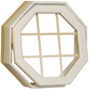 Century Specialty Windows 24-in x 24-in Windows Of Distinction Series Unfinished Wood Double Pane Octagon New Construction Window