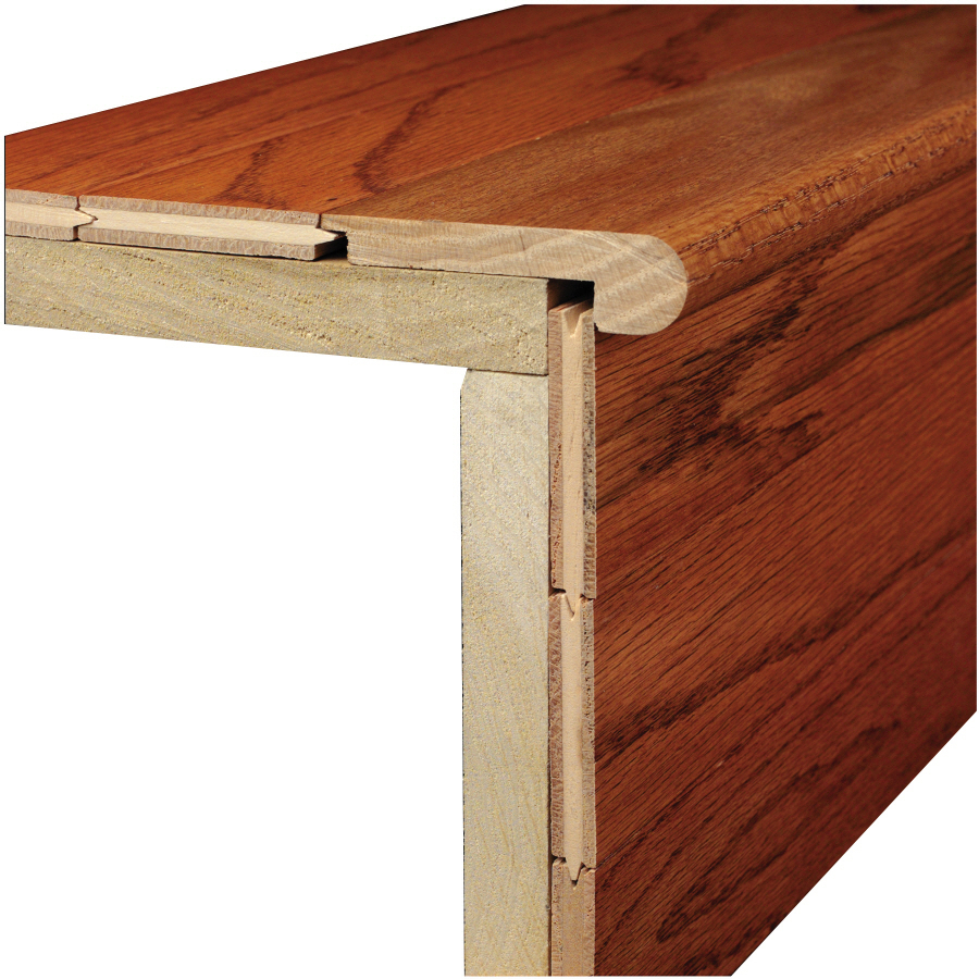 ... -in x 78-in Marsh Natural Wood Stair Nose Floor Moulding at Lowes.com