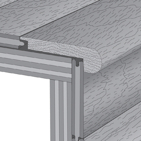 Robbins 3-1/8-in x 78-in Maple Auburn Stair Nose Moulding