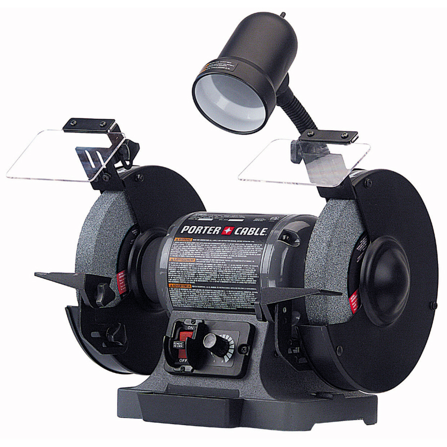 Shop Porter Cable 8 In Variable Speed Bench Grinder With Light At