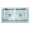 Franke Manor House 20.875-in x 36-in Stainless Steel Double-Basin Apron Front/Farmhouse Residential Kitchen Sink
