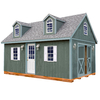 Best Barns Arlington with Floor Gable Engineered Wood Storage Shed (Common: 12-ft x 16-ft; Interior Dimensions: 11.42-ft x 15.17-ft)
