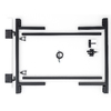 "Adjust-A-Gate 36"" Gray Powder-Coated Gate Frame Kit"