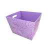Style Selections 14-in W x 10-in H Purple Circle Print Fabric Bin