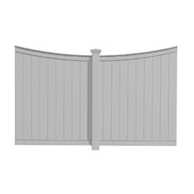 Eden White Vinyl Privacy Panel