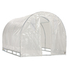  8-ft L x 8-ft W x 6.7-ft H Metal Poly Sheeting Greenhouse