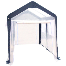 SPRING GARDENER 8-ft L x 6-ft W x 7-ft H Metal Poly Sheeting Greenhouse