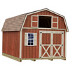 Best Barns Millcreek with Floor Gambrel Engineered Wood Storage Shed (Common: 12-ft x 16-ft; Interior Dimensions: 11.42-ft x 15.42-ft)