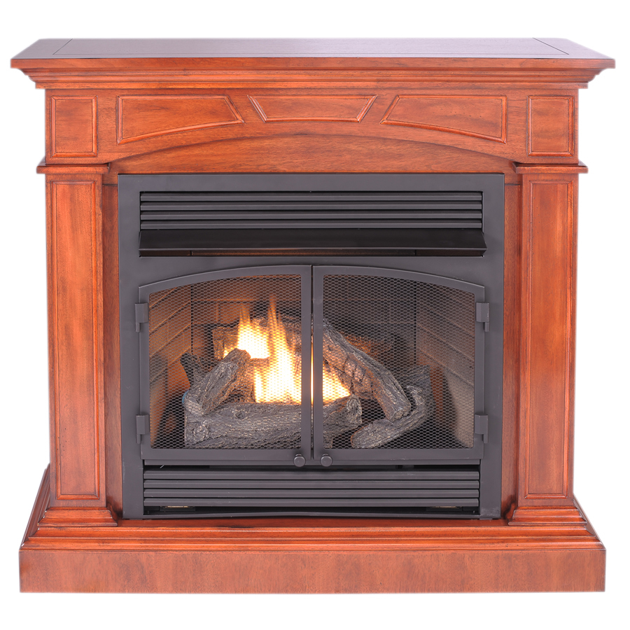 Shop Procom Dual Burner Vent Free Heritage Cherry Corner Or Wall Mount Liquid Propane