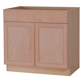 in w x 34 5 in h x 24 6 in d unfinished sink base cabinet at